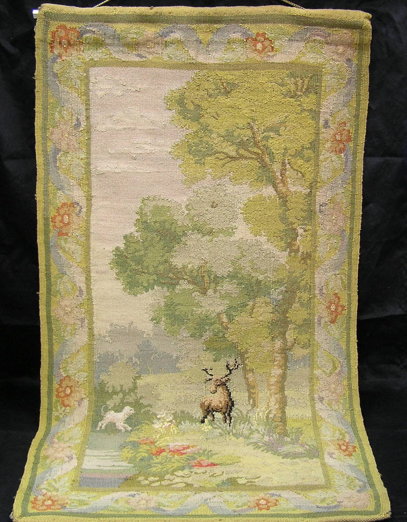 $950.00 Hand Made Wool Needle Point Wall Hanging Tapestery.