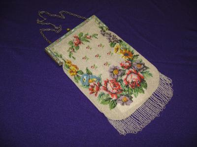 Beaded  Italian Frame Purse