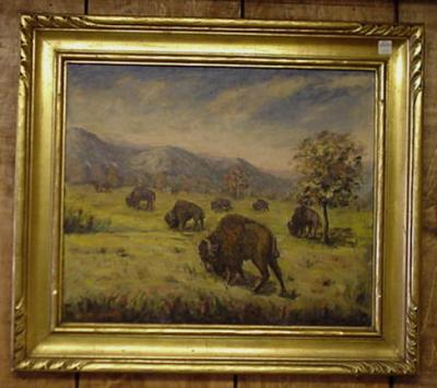 Buffalo Oil Painting
