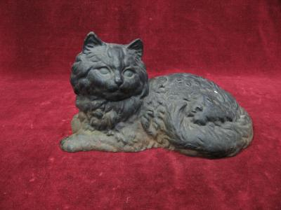 Cast Iron Persian Cat Doorstop