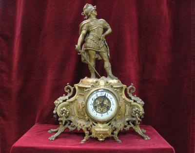 "Antique 19 Century Waterbury Clock Company - ""Cavalier"" Model Clock"