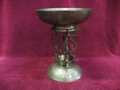 Chinese Brass Stand,Large & Small,Dragons Bowls