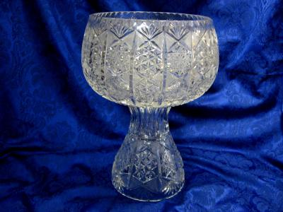 Footed punch Bowl Cutglass