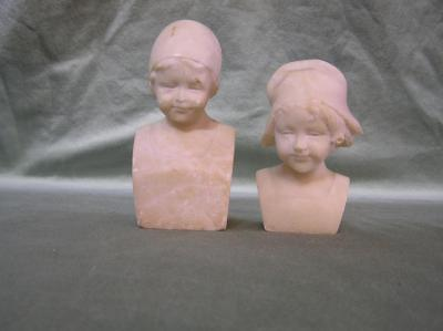 Alabaster Bust Bookend
