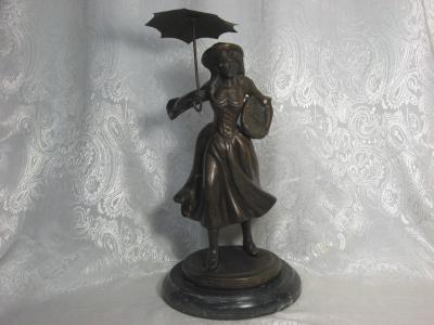 Bronze Statue Signed Gordillo