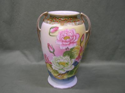 "Hand Painted Vase 11"" Tall"
