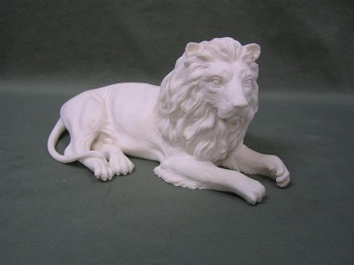 Resin And Alabaster lion Statue